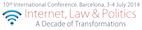 X Congreso Internet, Derecho y Política 2014 Una década de transformaciones.